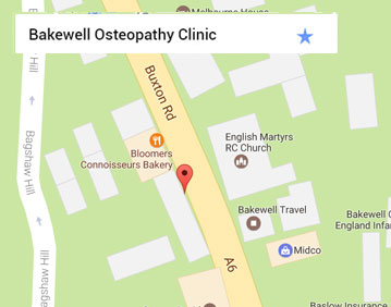 Bakewell Osteopathy Map